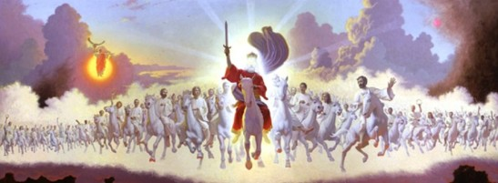 Jesus and his holy people prepared for war against evil.