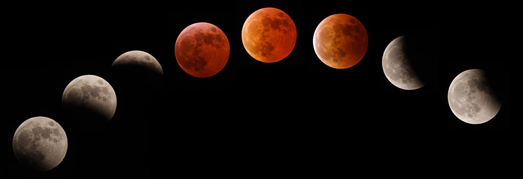 Blood Moon Eclipse 2015 The blood moons show a pattern