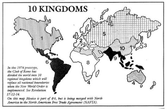 10 regions or zones