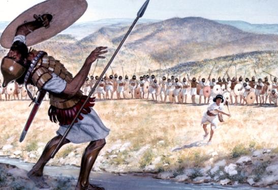 David hits Goliath
