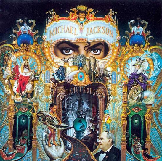 Satanic symbols in the album Dangerous.